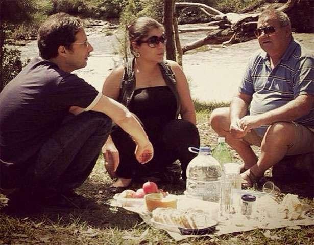 cena do filme 'Homem Comum': o diretor Carlos Nader e o personagem, o caminhoneiro Nilson de Paula