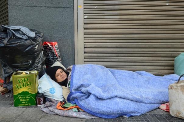 Morador de rua na cidade de São Paulo – Foto: Rovena Rosa/Agência Brasil